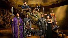 "Black Panther Movie Cast Poster 2018 Film New Marvel Comics Print Size 13x20"" 20x30"" 24x36"""