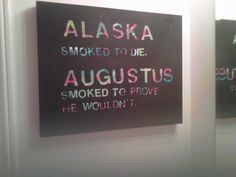 Looking for Alaska and TFiOS painting.... Need to do!