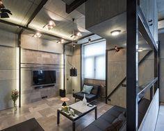 Apartamento pequeno com cores escuras - limaonagua