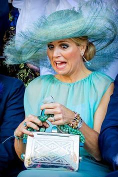 Queen Maxima of The Netherlands visits Curacao during the Dia di Bandera celebrations on July 2018 in Willemstad, Curacao. (Photo by Patrick van Katwijk/Getty Images) Royal Tiaras, Royal Jewels, Dutch Queen, Estilo Real, Dutch Royalty, Casa Real, Queen Maxima, Royal Fashion, Funny Faces