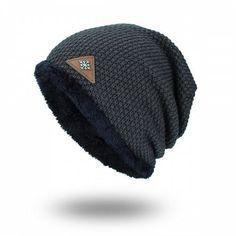 Tide Knit Wool Winter Plus Velvet Warm Snowflake Men s Outdoor Hat -  6.99  Free Shipping 086bf33dc73