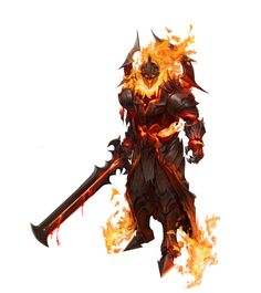 fire knight, young hun byun on ArtStation at https://www.artstation.com/artwork/fire-knight-da96da11-6782-485d-926d-6f1e80068119
