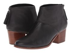 TOMS Leila Bootie Black Full Grain Leather - Zappos.com Free Shipping BOTH Ways