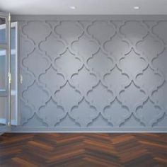 We proudly offer the Ekena Millwork Large Marrakesh Decorative Fretwork Wall Panels in Architectural Grade PVC White Wall Paneling, Off White Walls, Modern Wall Paneling, Paneling Walls, Wood Walls, Panelling, Pvc Wall Panels, Decorative Wall Panels, Accent Wall Panels