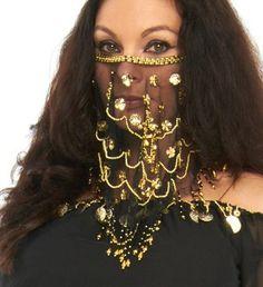 Desert Princess Gold Coin Earrings Arab Harem Gypsy Halloween Costume Accessory
