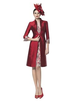 Fenghuavip Round Collar Short Sleeves Red Lace Mother of Bride 2 Pieces ** Special  product just for you. See it now! : Mother of the Bride