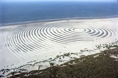 Land art at the beach of Terschelling during Oerol Festival