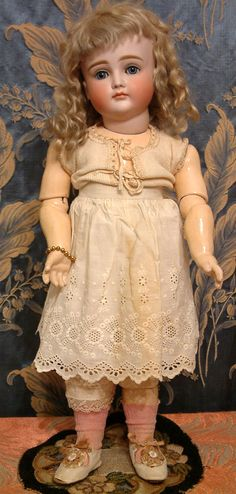 "Perfect Rare 19.5"" Kestner Doll XII Closed Mouth Antique German Bebe from kathylibratysantiques on Ruby Lane"