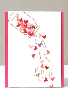 homemade cards for men ; homemade cards for kids ; homemade cards for boyfriend ; Tarjetas Diy, Karten Diy, Valentine Day Crafts, Homemade Valentines Day Cards, Valentine Decorations, Cute Valentines Day Cards, Cute Valentines Day Ideas, Mothers Day Cards, Handmade Valentines Cards