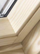 VELUX centre pivot pine close up available at Sterlingbuild www.sterlingbuild.co.uk @VELUX GBI