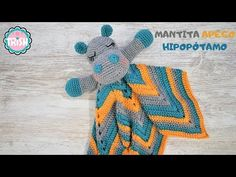 Crochet Security Blanket, Crochet Lovey, Baby Blanket Crochet, Crochet Yarn, Crochet Toys, Baby Hippo, Baby Lovey, Manta Animal, Dou Dou