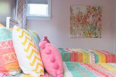Bryn Mawr Kids Room. Philadelphia interior design, girls bedroom design.  https://down2earthinteriordesign.com/portfolio_page/bedrooms/