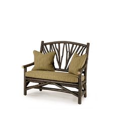 La Lune Love Settee #1404 with Optional Loose Seat Cushion shown in Ebony Premium Finish (on Bark) La Lune Collection