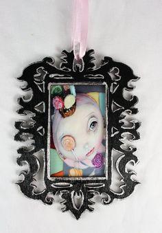 Original Pop Surrealism Candy Land Princess by michelelynchart, $25.00