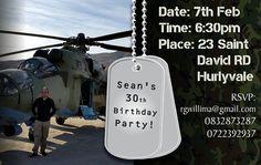 INVITATION DESIGN >> 30th Birthday party E-Invitation - Created by Design so Fine