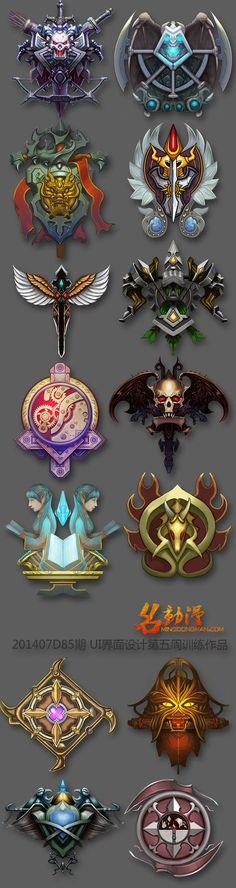 I really like these emblems as they also would fit in in well with a cartoony styled design,
