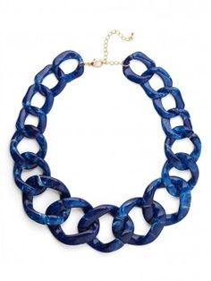 in love with our sapphire chunky chain collar!!