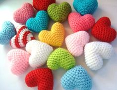 Amigurumi Hearts by AllSoCute Amigurumis, via Flickr