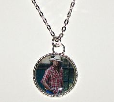 Jason Aldean Bright Shiny Silver Plated Pendant by DixonsJewelry, $7.99