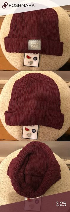 5d23791aef2 Love Your Melon Beanie with LYM Pins NWOT