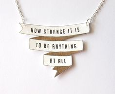 Artículos similares a How Strange It Is - Banner Necklace - Made To Order en Etsy