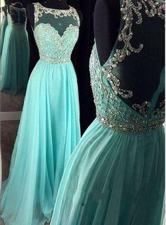 Beading Evening Dress,Chiffon Evening Dress,See Though A Line Formal Dress by fancygirldress, $189.00 USD