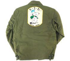 69's U.S.ARMY A-2デッキJKT SNOOPYワッペン! 表記(M)