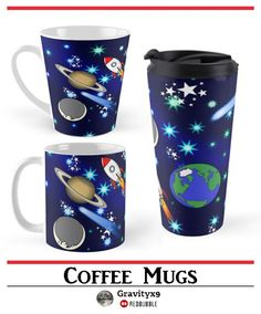 Galaxy Universe Coffee Mugs by #Gravityx9 at Redbubble - Stars, Rocket ships, alien space ship, planets, the moon, comets and more! • Also buy this artwork on home decor, apparel, stickers, and more.  - Stars, Rocket ships, alien space ship, planets, the moon, comets and more! • Also buy this artwork on home decor, apparel, stickers, and more.  at Redbubble !   Stars, Rocket ships, alien space ship, planets, the moon, comets and more! •  #drinkwares #coffeemug #mugs