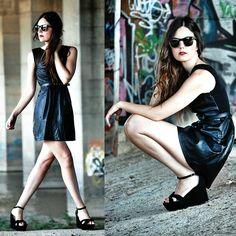 Leather look dress (by Laura Vfmw) http://lookbook.nu/look/3979164-Leather-look-dress