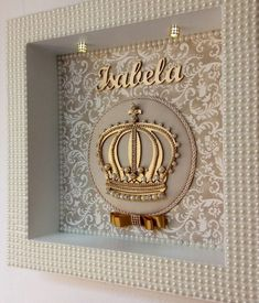 Diy Crafts For Girls, Fun Crafts To Do, Baby Crafts, Diy And Crafts, Royal Baby Showers, Baby Frame, Baby Kit, Decoupage Vintage, Diy Letters