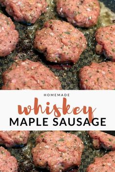 Homemade Whiskey Maple Sausage – Barrel Aged Creations – The Most Beautiful Recipes Recipes With Maple Sausage, Sweet Sausage Recipes, Venison Sausage Recipes, Homemade Sausage Recipes, Homemade Breakfast Sausage, Breakfast Recipes, Keto Recipes, Breakfast Casserole, Homemade Pastrami