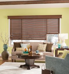 Bali Northern Heights 2 Wood Blinds shown in Majestic Walnut