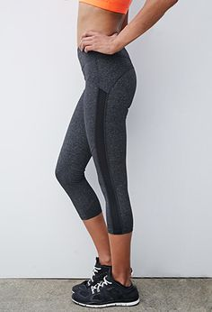 Textured Mesh Workout Pants | Forever 21 - 2000134205