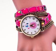 8e47ab595521 Reloj De Moda Nuevo Estilo 2016 Vintage Atrapasuenos Rosa
