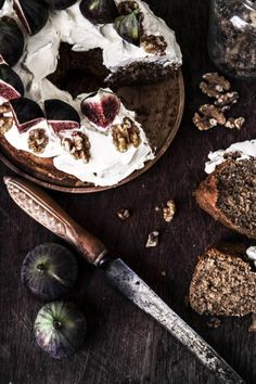 coffee walnut and fig bundt cake - twigg studios