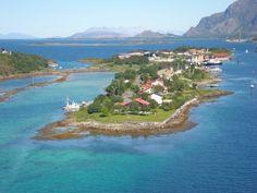 An Island over looking from the bridge of Brønnøysund Norway