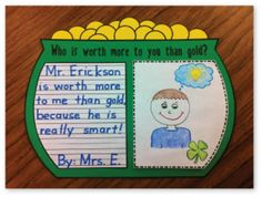 FREE from The Teacher Wife on TpT. Your students will love this FUN St. Patrick's Day writing activity! Check out my teaching blog for more St. Patrick's Day fun:http://theteac...
