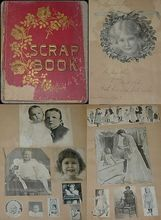 """Victorian Scrapbook-Gift Inscription 1903-Needs TLC! - A fascinating look into our collective past - from the Ruby Lane shop """"Sugar's Surprises"""""""
