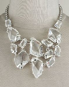 Necklace |  Kenneth Jay Lane.  Crystal bib necklace