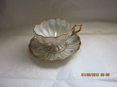 Vintage Royal Sealy bone china Opalescent White Tea by brugmansia, $14.99