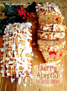 Cherry Almond Breakfast Bread - great for wrapping up and giving to friends and neighbors for the holidays! Also fantastic to have with coffee when you have guests.