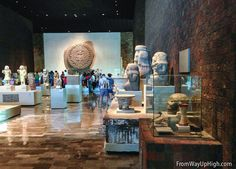 The Aztec display at the Museo Nacional de Antropología. For more, check out: http://fromwayuphigh.com/museo-nacional-de-antropologia/