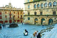 Plaza de Platerías, Santiago de Compostela by J.A.Sanjurjo, via Flickr Celtic Nations, The Camino, Old Buildings, Pilgrimage, Plaza, Places To See, Trek, Paths, Beautiful Places