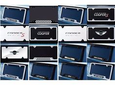 License Plate Frames from MINI, Frames with message or Marques with MINI logos. Choose from black or polished finish. SOLD EACH. Mini Cooper Accessories, New Mini Cooper, Construction Signs, John Cooper Works, Mini Clubman, Country Men, License Plate Frames, Sport Cars, Stocking Stuffers