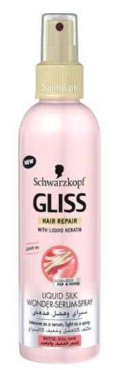 SCHWARZKOPF GLISS HAIR REPAIR LIQUID SILK WONDER SERUM SPRAY 200 ML Saloni™ Health