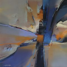 Michael McKee Abstract painting, utilizes great movement into the center of interest.