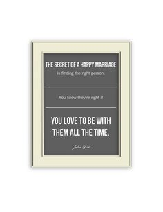 Julia Child Quote on Marriage. Wedding Art Print. by Coleandco