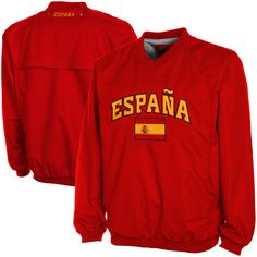 Spain Wind Shell Pullover Jacket – Red - $32.99
