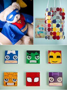 superhero themed baby room - Google Search