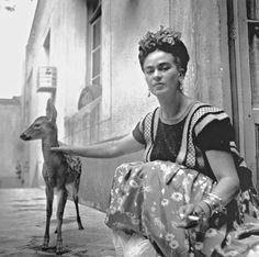Frida with Granizo, Coyoacán, 1939